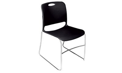 "Poly Stack Chair with Non Slip Glides 19.25""W x 31.5""H"