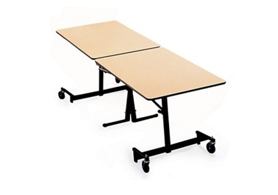 "Black Frame Mobile Folding Table- 30""Wx120""D"