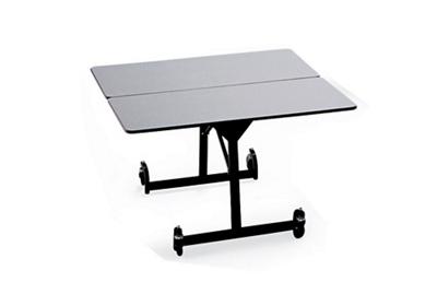 """Square Black Frame Mobile Folding Table- 48""""Wx48""""D"""