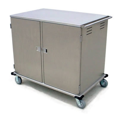28 Tray Room Service Double Door Delivery Cart