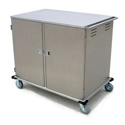 24 Tray Room Service Double Door Delivery Cart