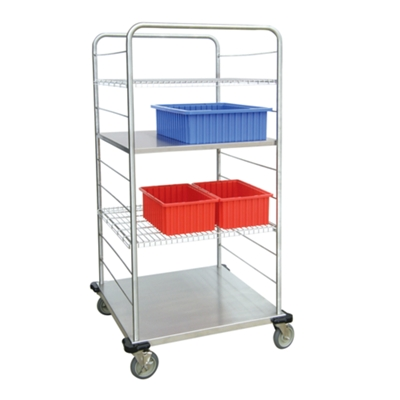 """62""""H Stainless Steel Multi-Use Wire Open Case Cart"""