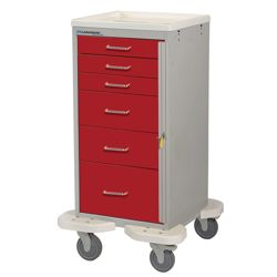 6-Drawer Emergency Mini Cart