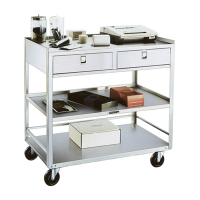 Lakeside Mobile Equipment Stand with Two Drawers
