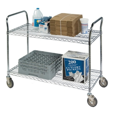 "Lakeside 60""x24"" Utility Cart with Wire Shelves"