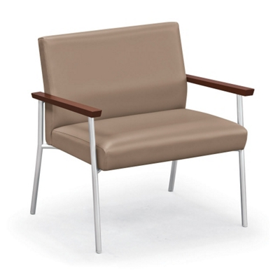 Uptown Bariatric Guest Chair with Vinyl or Fabric/Vinyl Upholstery