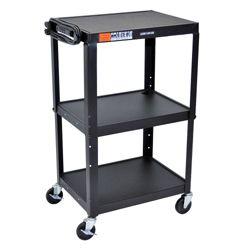 Adjustable Height Steel AV Cart