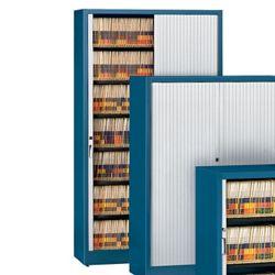 Seven Shelf Tambour Door File Cabinet