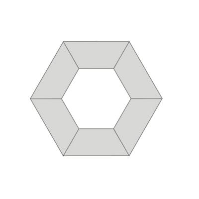 FLEX Hexagon Shaped Training Room Set