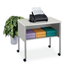 Mobile Printer Stand with Shelf