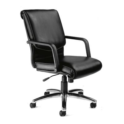 Leather Mid-Back Conference Chair