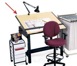 """60""""W x 38""""D Drafting Table"""