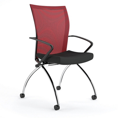 Mobile Nesting Chair with Mesh Back