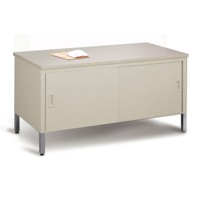 Mailroom Storage Table with Doors