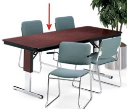 "Rectangular Adjustable Height Folding Conference Table - 72"" x 36"""