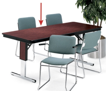 Rectangular Adjustable Height Folding Conference Table X - 72 x 36 conference table