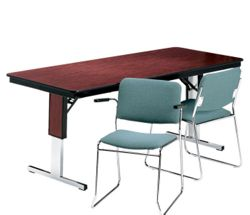 """Rectangular Adjustable Height Folding Conference Table - 96"""" x 30"""""""