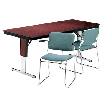 Rectangular Adjustable Height Folding Conference Table X - Adjustable height conference table