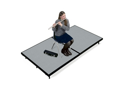 """Mobile Stage 4x8x16"""" High With Gray Poly Surface"""