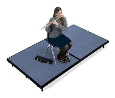 "Mobile Stage 6x8x16"" High With Gray Poly Surface"