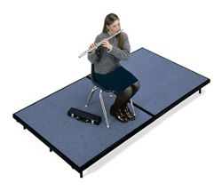 """Mobile Stage 4x8x24"""" High With Gray Poly Surface"""