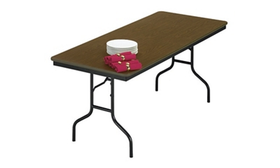 "Laminate Plywood Folding Table 30"" wide x 96"" long"