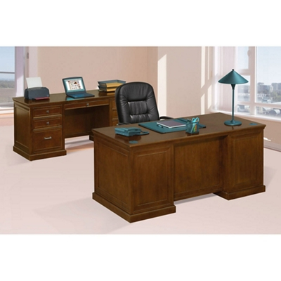 Statesman Executive Desk and Credenza Set