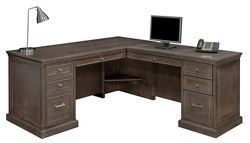 Statesman Executive L-Shaped Desk with Right Return