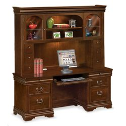 Pont Lafayette Executive Credenza and Hutch Set