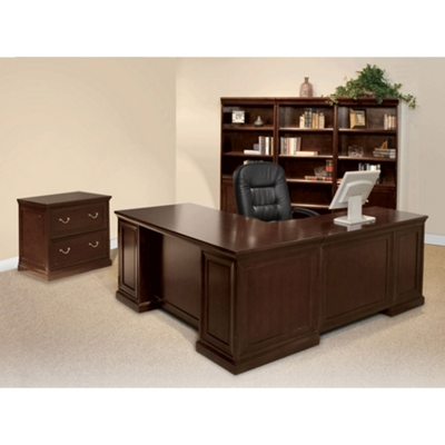 Espresso L-Desk with Left Return Office Set