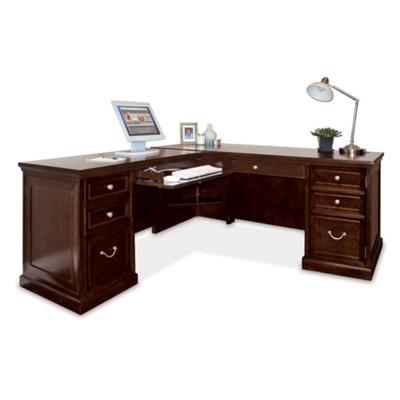 Ordinaire Espresso L Desk With Left Return, 13345