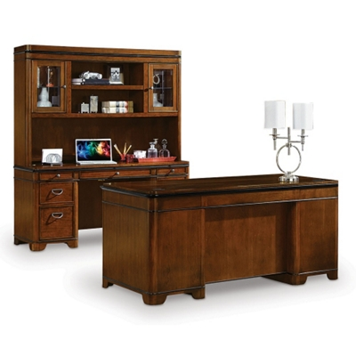 Kensington Desk Credenza and Hutch Set