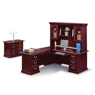 "Cumberland L-Desk with Left Return and Hutch - 72""W"