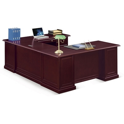 "Cumberland U-Desk with Right Bridge - 72""W"