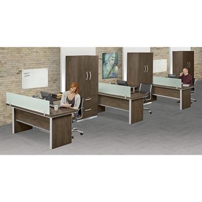 Metropolitan Three L-Desk Office Set