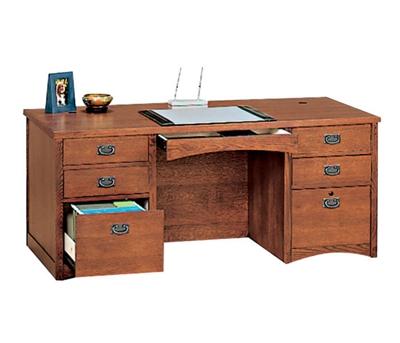 Mission Oak Executive Desk