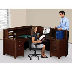 Right Return Reception L-Desk with Counter