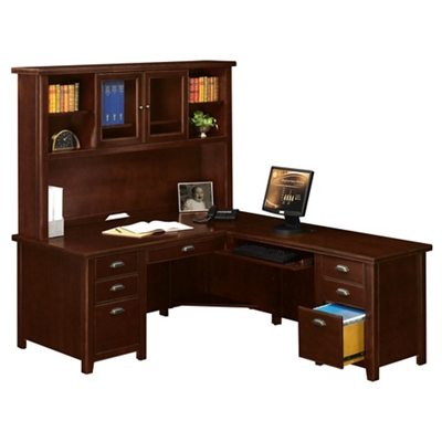 Right Return L-Desk with Hutch