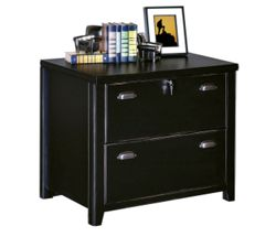 """30"""" W Two Drawer Lateral File with a Distressed Finish"""