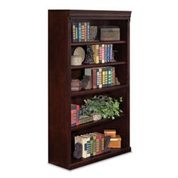 "Five Shelf Traditional Bookcase - 60""H"