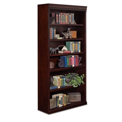 "Six Shelf Transitional Bookcase - 72""H"
