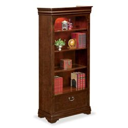 "Pont Lafayette 78.25"" H Four Shelf Bookcase with Drawer"