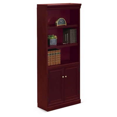 "Cumberland Five Shelf Bookcase with Doors - 72""H"