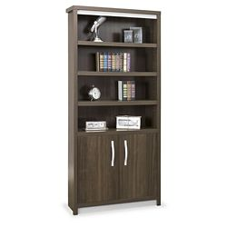 "Metropolitan 78""H Six Shelf Bookcase with Doors"