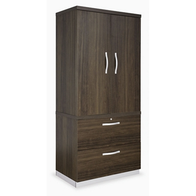 Metropolitan Wardrobe Cabinet with Two Drawer Lateral File