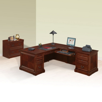 L-Desk with Right Return and Lateral File
