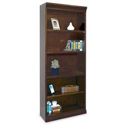 """72"""" H Five Shelf Contemporary Bookcase"""