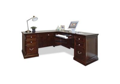 Espresso L-Desk with Right Return