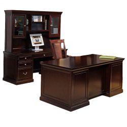 Espresso Three Piece Office Group