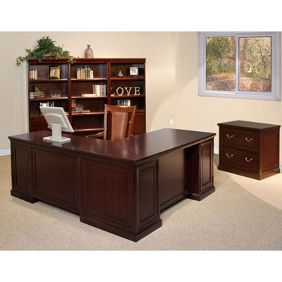 Espresso L-Desk with Right Return Office Group